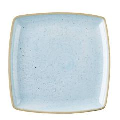 "Churchill Stonecast Duck Egg Blue Deep Square Plate 10.5"" / 26.8cm"