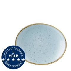 """Churchill Stonecast Duck Egg Blue Oval Coupe Plate 7.75"""" / 19.2cm"""