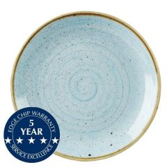 """Churchill Stonecast Duck Egg Blue Coupe Plate 11.25"""" / 28.8cm"""