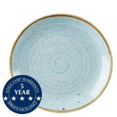 """Churchill Stonecast Duck Egg Blue Coupe Plate 10.25"""" / 26cm"""