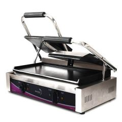 Pantheon Double Flat Plate Panini Contact Grill 570x395x210mm