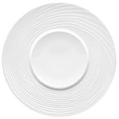 """Bauscher Compliments Flat Plate With Structure 13.4"""" / 34cm"""