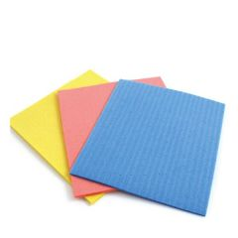 Assorted Coloured Cellulose Sponge Cloth