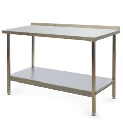 Stainless Steel Fully Welded Kitchen Wall Bench 1500x600x900mm