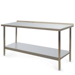 Stainless Steel Fully Welded Kitchen Wall Bench 1800x600x900mm