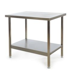 Stainless Steel Fully Welded Kitchen Centre Bench 900x600x900mm