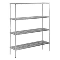 Eclipse 4 Tier Plastic Plus With Vented Shelves 1370x460x1625mm