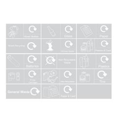 Recycling Label Pack Including 14 Different Labels