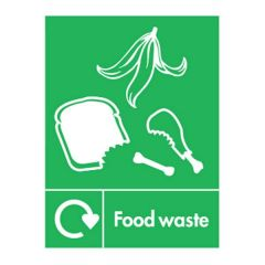 Food Waste Recycling Sticker 200x150mm