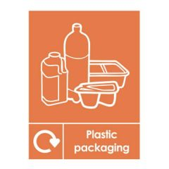Plastic Packaging Recycling Sticker 200x150mm