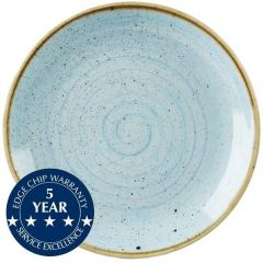 """Churchill Stonecast Duck Egg Blue Large Coupe Plate 12.75"""" / 32.5cm"""