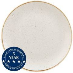 """Churchill Stonecast Barley White Large Coupe Plate 12.75"""" / 32.5cm"""