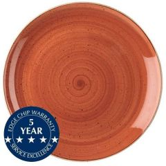 "Churchill Stonecast Spiced Orange Large Coupe Plate 12.75"" / 32.5cm"