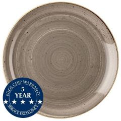 """Churchill Stonecast Peppercorn Grey Large Coupe Plate 12.75"""" / 32.5cm"""