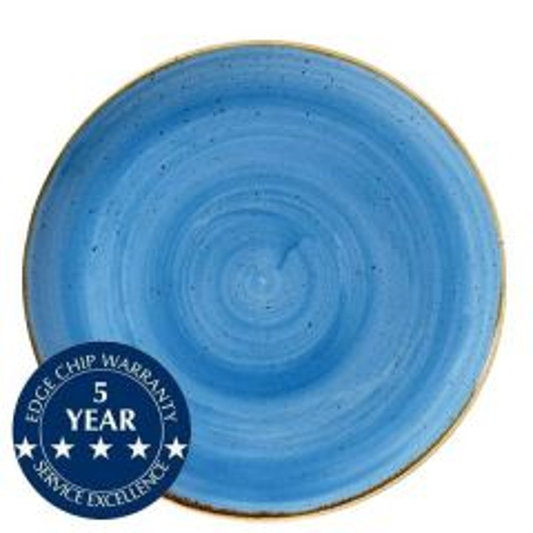 "Churchill Stonecast Cornflower Blue Coupe Plate 11.25"" / 28.8cm"