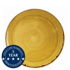 """Churchill Stonecast Mustard Seed Yellow Coupe Plate 10.25"""" / 26cm"""