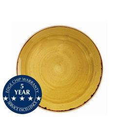 """Churchill Stonecast Mustard Seed Yellow Coupe Plate 8.66"""" / 21.7cm"""