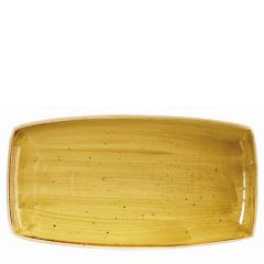"Churchill Stonecast Mustard Seed Yellow Oblong Plate 14x7.25"" / 35x18.5cm"