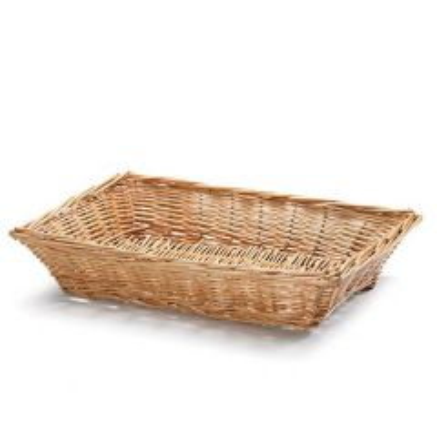 Handwoven Rectangular Willow Bread Basket 36x25x8cm