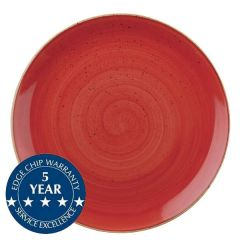 """Churchill Stonecast Berry Red Coupe Plate 11.25"""" / 28.8cm"""