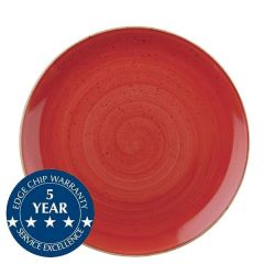 """Churchill Stonecast Berry Red Coupe Plate 10.25"""" / 26cm"""