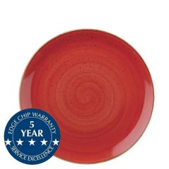 """Churchill Stonecast Berry Red Coupe Plate 8.66"""" / 21.7cm"""