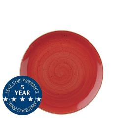 """Churchill Stonecast Berry Red Coupe Plate 6.5"""" / 16.5cm"""