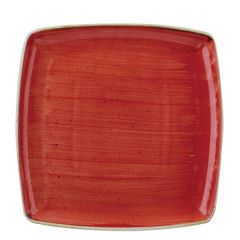 """Churchill Stonecast Berry Red Square Plate 10.5"""" / 26.8cm"""