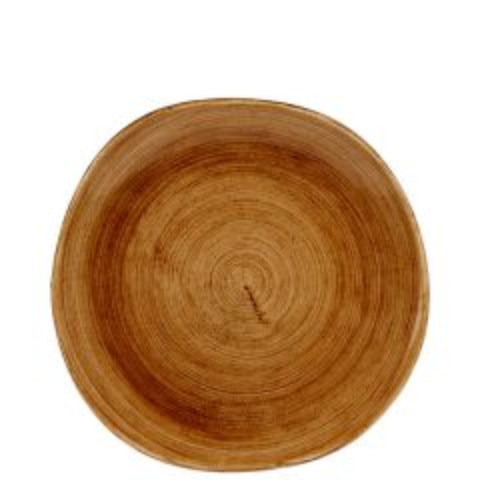 "Churchill Stonecast Patina Vintage Copper Organic Round Plate 10.375"" / 26.4cm"