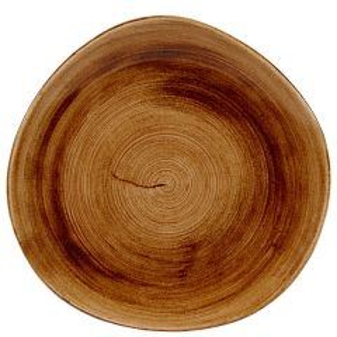 "Churchill Stonecast Patina Vintage Copper Organic Round Plate 11.25"" / 28.6cm"