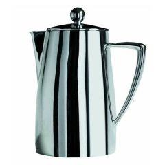 Art Deco Coffee Pot 18/10 Stainless Steel 28oz / 80cl