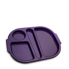 """Harfield Polycarbonate Plastic Purple Sparkle Small Meal Tray 11x9"""" / 28x23cm"""