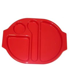 """Harfield Polycarbonate Plastic Red Large Meal Tray 15x11"""" / 38x28cm"""