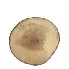 Acacia Wood Round Bark Plate Finished With Food Safe Varnish 9.6-10.4""