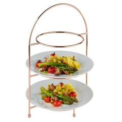 Copper Wire 3 Tier Cake Stand For 24cm Plates with a 14cm foot