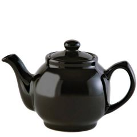 Price & Kensington Gloss Classic Black Teapot 6 Cup 39oz / 1.1Ltr