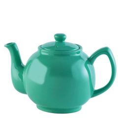 Price & Kensington Gloss Bright Jade Green Teapot 6 Cup 39oz / 1.1Ltr