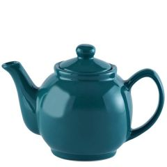 Price & Kensington Gloss Bright Teal Blue Teapot 6 Cup 39oz / 1.1Ltr