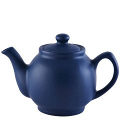 Price & Kensington Matt Glaze Navy Blue Teapot 6 Cup 39oz / 1.1Ltr
