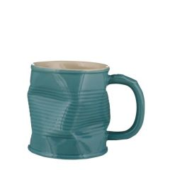 Squashed Tin Can Mug Turquoise 7.75oz / 22cl