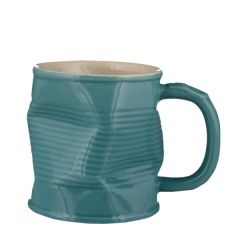 Squashed Tin Can Mug Turquoise 11.25 / 32cl