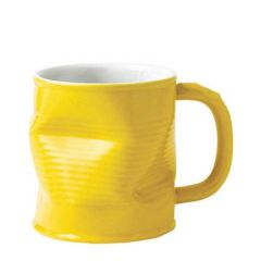 Squashed Tin Can Mug Yellow 11.25oz / 32cl