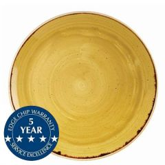 """Churchill Stonecast Mustard Seed Yellow Coupe Plate 11.25"""" / 28.8cm"""