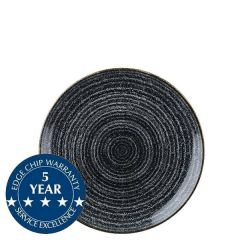 "Churchill Studio Prints Homespun Charcoal Black Coupe Plate 6.5"" / 16.5cm"
