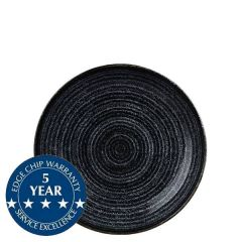 "Churchill Studio Prints Homespun Charcoal Black Coupe Bowl 7.25"" / 18.2cm"