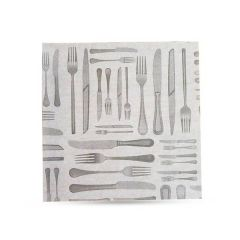 "Cutlery Design Small Greaseproof Sheets 6"" / 15cm"