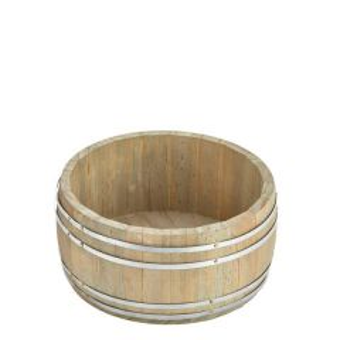 "Miniature Wooden Barrel 6.5""/16.5cm Diameter 3.5""/9cm Tall"