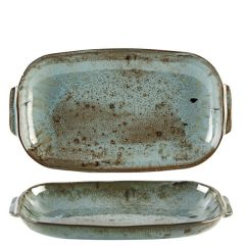 "Rustico Vintage Handled Rectangular Dish 10.5x6.5"" / 26.6x16.6cm"