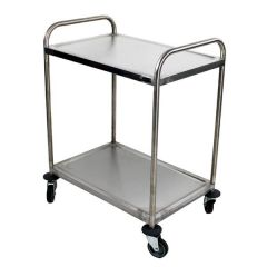 """2 Tier Fully Welded Trolley with Four Castors & Two Brakes 32x22.5x38.2"""" / 82x57x97cm"""