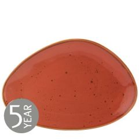 "Earth Cinnamon Oblong Plate 14"" / 35.5cm"